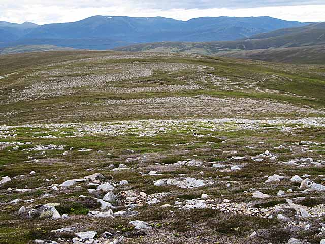 Broad ridge between Sgor Mor and Carn Ghriogair