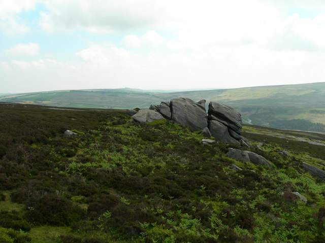 One part of the Hurkling Stones area