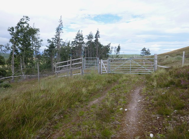 Gate on the moorland track, by Boblainy Forest