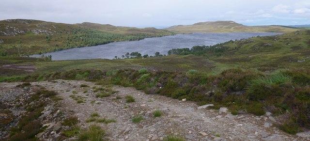 Track descending to Loch Bruicheach