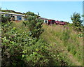 SO2309 : Train on an embankment near Big Pit Halt, Blaenavon by John Grayson