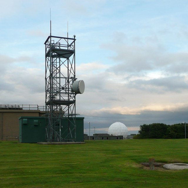 Communications mast at RAF Boulmer