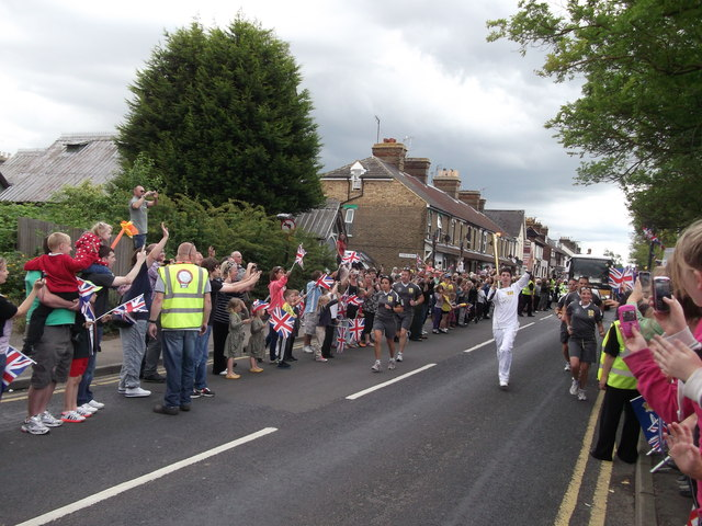 Olympic Torch Relay Runner in Faversham