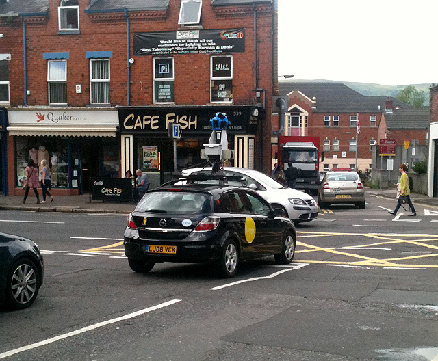 Google Street View car, Belfast