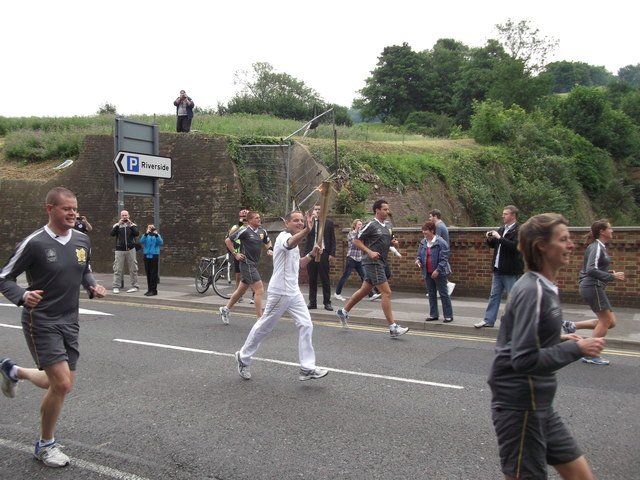 Olympic Torch Runner, Dock Road, Chatham