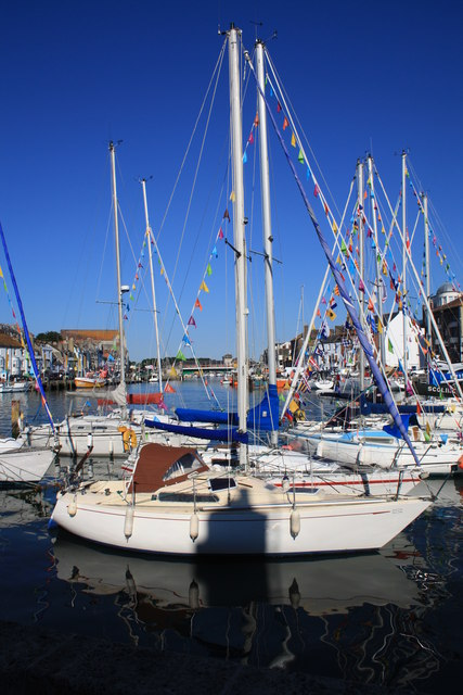 Yachts in Weymouth Harbour