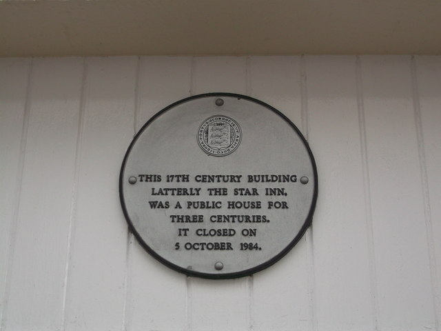 Close-up of Plaque on the Star Inn, Faversham