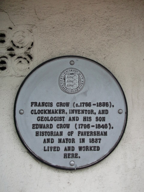 Plaque on No.8, Market Place, Faversham