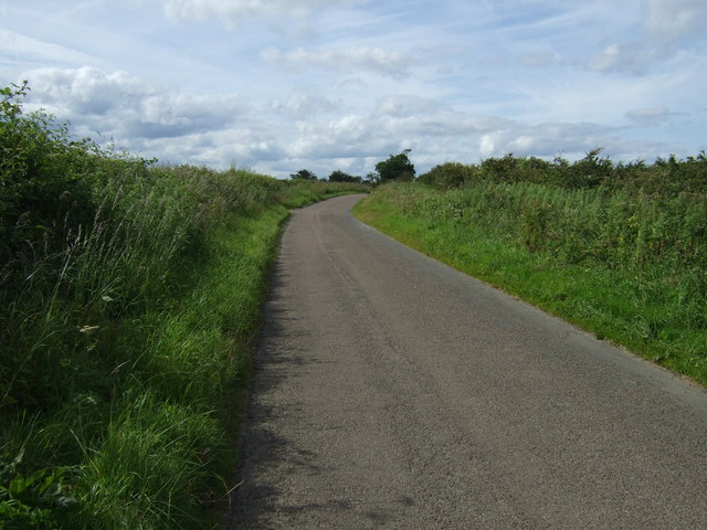 Minor road towards Shilbottle