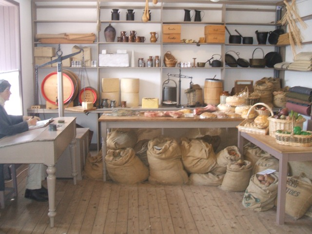Inside the village store