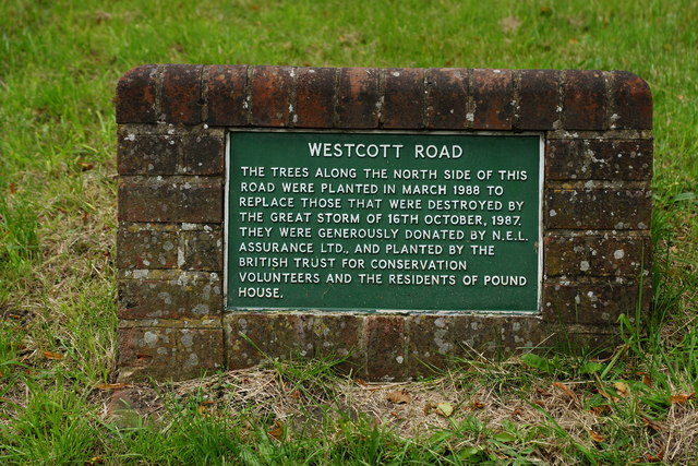 Sign on Westcott Road, Dorking, Surrey