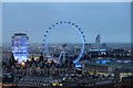 TQ3079 : London Eye and Shell Building from New Zealand High Commission by Christine Matthews