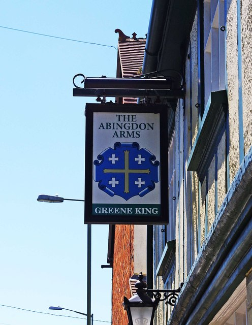 The Abingdon Arms (2) - sign, 87 Grove Street, Wantage