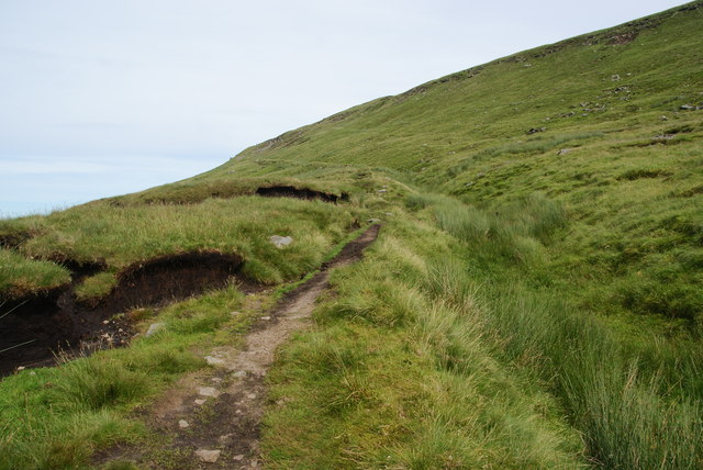 Path on the north side of Fountains Fell