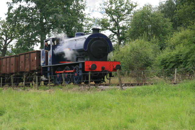 Foxfield Railway - the train takes the strain