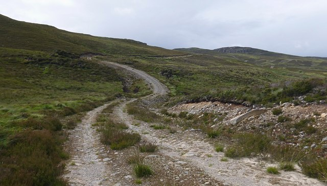 Track over the moor, to Loch Bruicheach