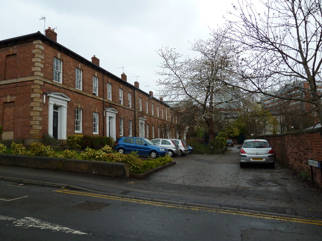 Looking from Wilkinson Street into Peel Terrace