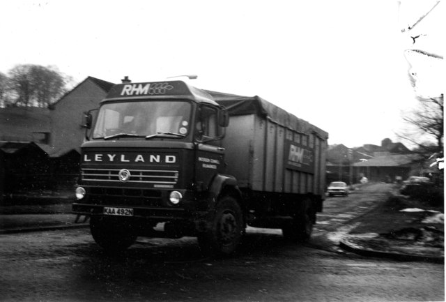 RHM lorry leaving the feed mill at Mid Calder -1978