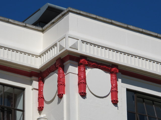 The facade of the former Ovaltine Factory, Ovaltine Drive, WD4 - detail