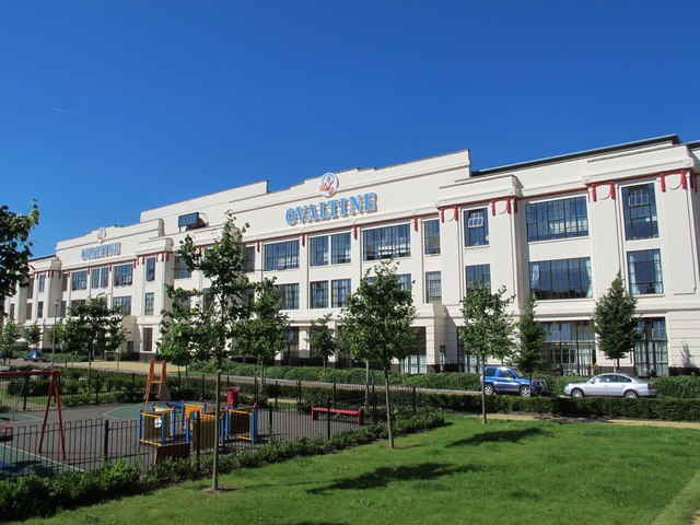 The facade of the former Ovaltine Factory, Ovaltine Drive, WD4 (2)