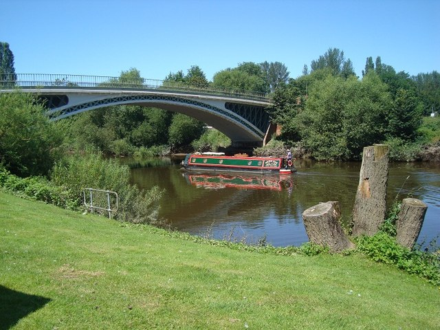 River Severn and Road Bridge at Holt Fleet