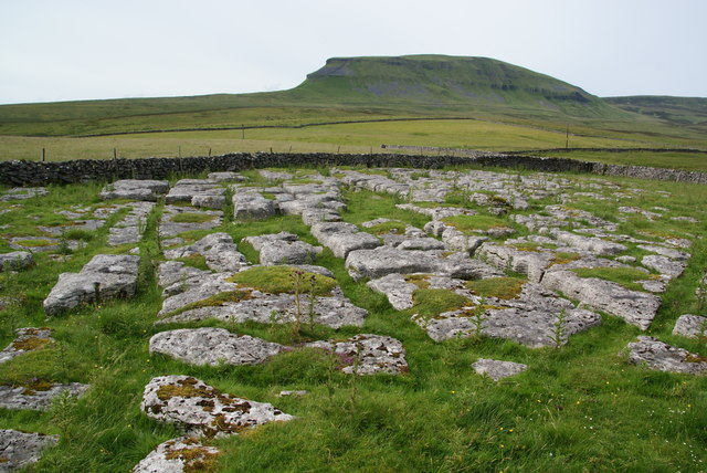 Limestone pavement near Dale Head