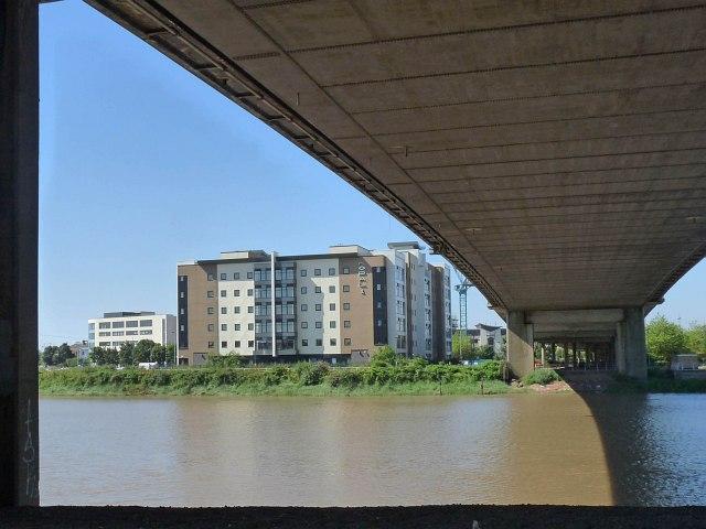 Under George Street Bridge,River Usk, Newport