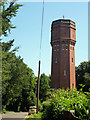 SU9842 : Water tower, Munstead Heath by Robin Webster