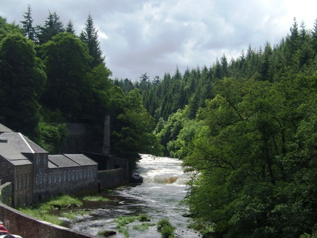 Retort House and Falls of Clyde