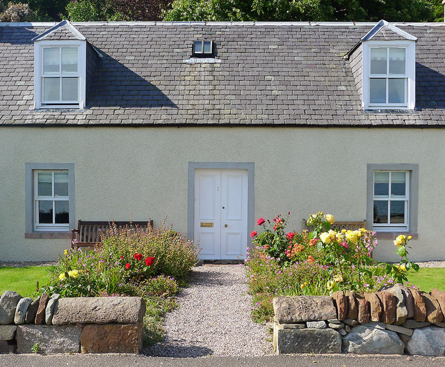 House on the seafront, Fortrose
