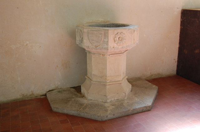 15th Century Font, Boughton Aluph church
