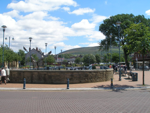 The canal in the centre of Stalybridge