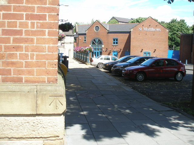 Benchmark on the Victoria Market building