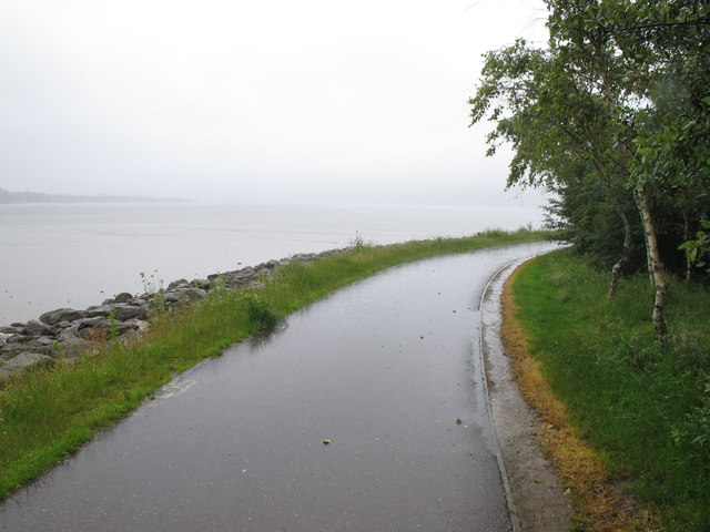 Cycle track from Blackrock by Lough Mahon