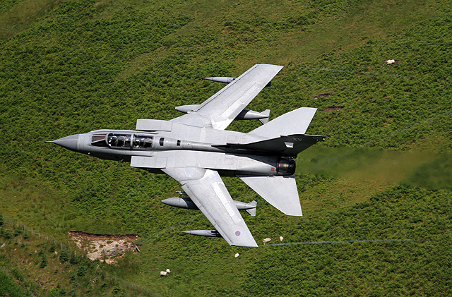 A low flying Tornado aircraft