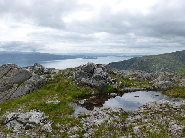 Pool on the Sròn a' Gharbh Choire Bhig ridge of Garbh Bheinn