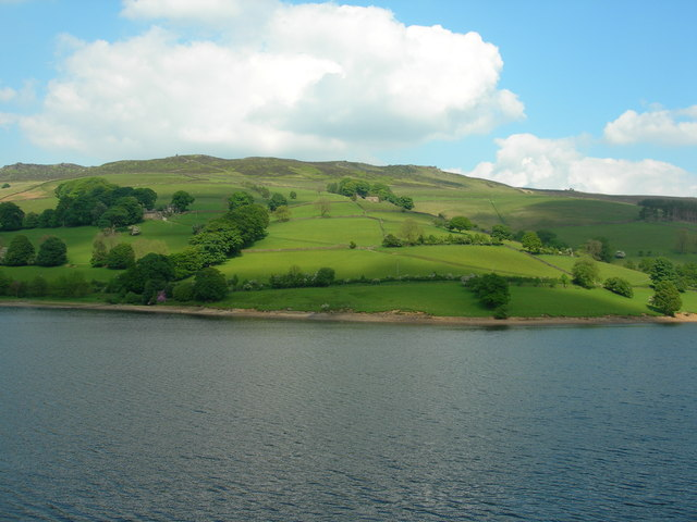 View east across Ladybower Reservoir