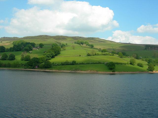 View east across Ladybower Reservoir
