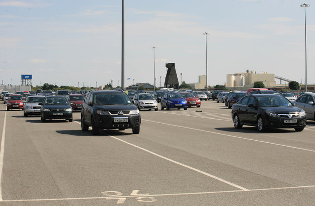 Car Park at immingham Port Open day