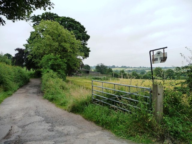 The entrance to Carr Farm