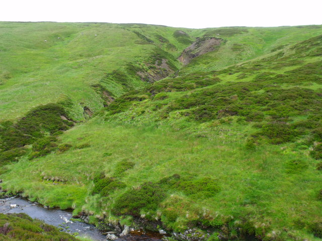 Tributary of Burn of Duskintry west of Danger Point near Glen Lethnot