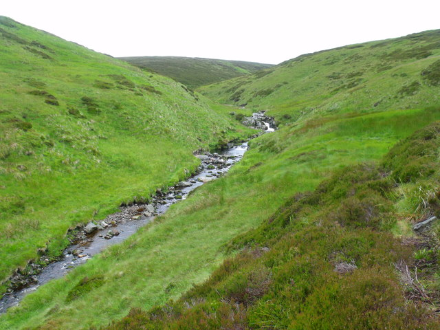 High in the course of Burn of Duskintry near Glen Lethnot