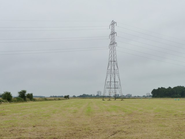 Pylon in the hay field