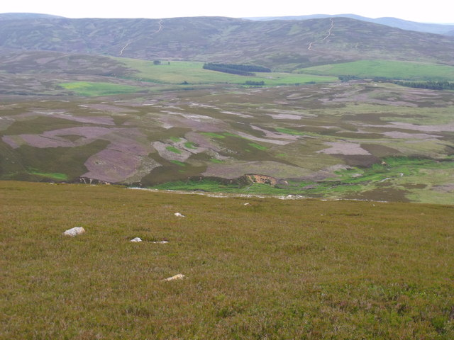 The edge of Corrie Duff near Glen Esk in Angus