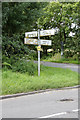 SK8568 : Fingerpost at Eagle Cross Roads  by Alan Murray-Rust