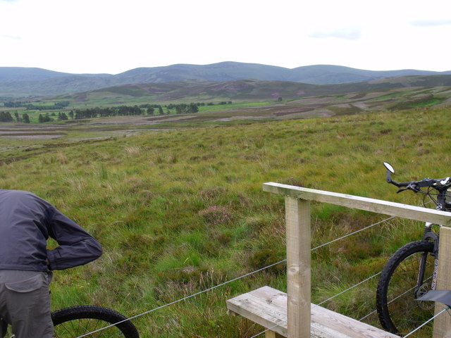 Stile at foot of Corrie Duff near Glen Esk in Angus