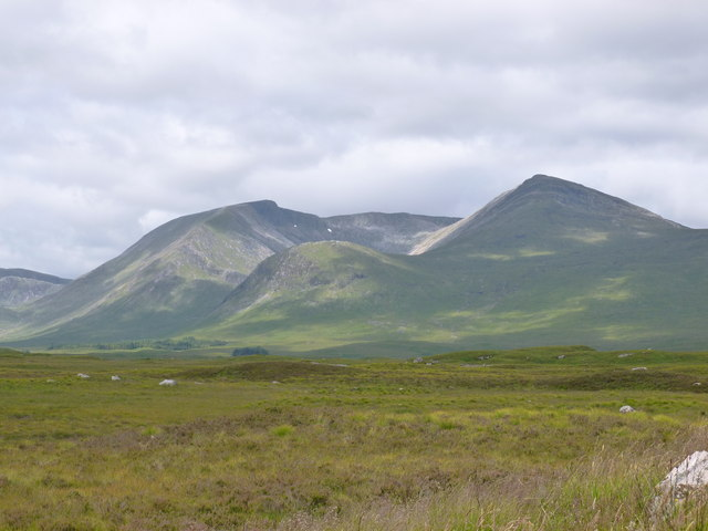 Looking across Rannoch Moor to Clach Leathad and Meall a' Bhuiridh