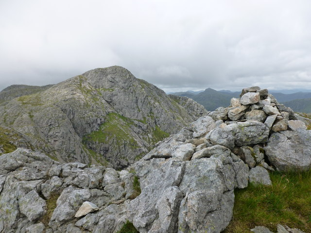 Cairn on the south top of Garbh Bheinn