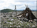 NN6451 : Meall Garbh Summit Cairn by G Laird