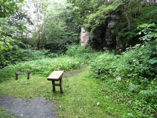 Site of the shaft at Bobgins Burn